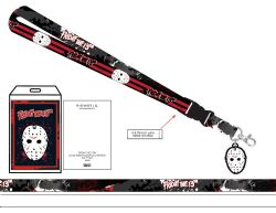FRIDAY THE 13TH -  JASON LANYARD BLACK AND RED