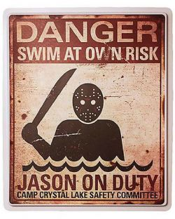 FRIDAY THE 13TH -  PLASTIC SIGN