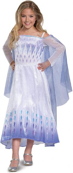 FROZEN 2 -  SNOW QUEEN ELSA DELUXE COSTUME (CHILD) -  DISNEY'S PRINCESSES