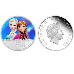 FROZEN -  ELSA AND ANNA - MAGIC OF THE NORTHERN LIGHTS -  2016 NEW ZEALAND MINT 05