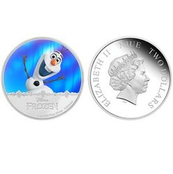 FROZEN -  OLAF - MAGIC OF THE NORTHERN LIGHTS -  2016 NEW ZEALAND MINT 03