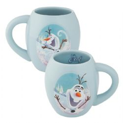 FROZEN -  OLAF - OVAL CERAMIC MUG (18 OZ) -  DISNEY'S PRINCESSES