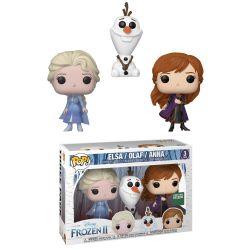 FROZEN -  POP! VINYL FIGURE OF ELSA, OLAF & ANNA (3 PACK) (4 INCH)