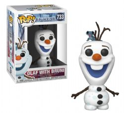 FROZEN -  POP! VINYL FIGURE OF OLAF WITH BRUNI (4 INCH) -  DISNEY'S PRINCESSES 733