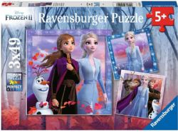 FROZEN -  THE JOURNEY STARTS (3 X 49 PIECES) - 5+ -  DISNEY'S PRINCESSES