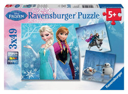 FROZEN -  WINTER ADVENTURES (3 X 49 PIECES) - 5+ -  DISNEY'S PRINCESSES