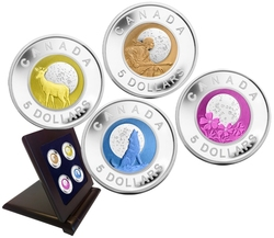 FULL MOONS -  4-COIN SET -  2011-2012 CANADIAN COINS