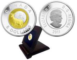 FULL MOONS -  FULL BUCK MOON -  2011 CANADIAN COINS 01