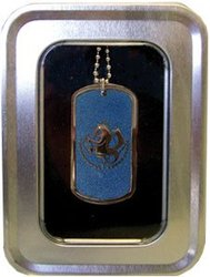 FULLMETAL ALCHEMIST -  NECKLACE -BLUE STATE MILITARY DOG TAG-