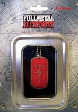 FULLMETAL ALCHEMIST -  NECKLACE -RED LOGO DOG TAG-