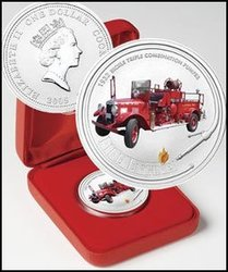 Fire Engines of the World -  1932 BICKLE TRIPLE COMBINATION PUMPER FIRE ENGINE -  2005 Cook Island coins