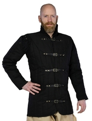 GAMBESON -  WARRIORS MEDIEVAL GAMBESON - BLACK - 4XL