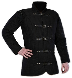 GAMBESON -  WARRIORS MEDIEVAL GAMBESON - BLACK - SMALL