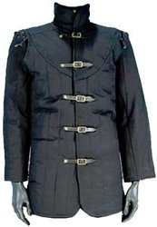 GAMBESON -  WARRIORS MEDIEVAL GAMBESON - BLACK - XXX-LARGE