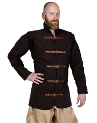 GAMBESON -  WARRIORS MEDIEVAL GAMBESON - BROWN - 4XL