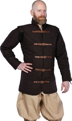 GAMBESON -  WARRIORS MEDIEVAL GAMBESON - BROWN - LARGE