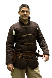GAMBESON -  WARRIORS MEDIEVAL GAMBESON - BROWN - SMALL