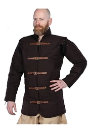 GAMBESON -  WARRIORS MEDIEVAL GAMBESON - BROWN - XX-LARGE