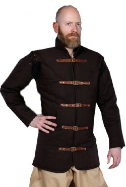 GAMBESON -  WARRIORS MEDIEVAL GAMBESON - BROWN (XXX-LARGE)
