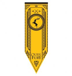 GAME OF THRONES, A -  BARATHEON TOURNAMENT BANNER (19.25