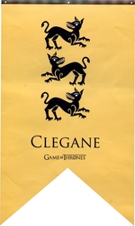 GAME OF THRONES, A -  CLEGANE BANNER