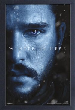 GAME OF THRONES, A -  JON SNOW - WINTER IS HERE PICTURE FRAME (13