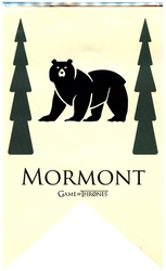 GAME OF THRONES, A -  MORMONT BANNER