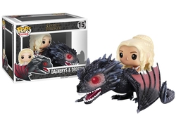 GAME OF THRONES, A -  POP! VINYL FIGURE OF DAENERYS & DROGON (8 INCH) 15