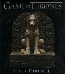 GAME OF THRONES, A -  STARK DIREWOLF STATUE (3