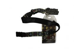 GAME OF THRONES -  LANYARD WITH RUBBER CHARM