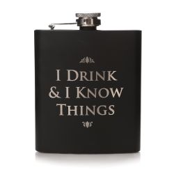 GAME OF THRONES -  METAL FLASK - 6.7 OZ