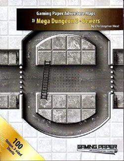 GAMING PAPER ADVENTURE MAPS -  MEGA DUNGEON 3 - SEWERS (ENGLISH)