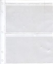 GARDMASTER ALBUMS -  ADDITIONAL SHEET FOR BILLS (2 POCKETS)