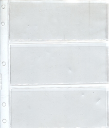 GARDMASTER ALBUMS -  ADDITIONAL SHEET FOR BILLS (3 POCKETS)