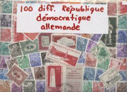 GERMAN DEMOCRATIC REPUBLIC (EAST GERMANY) -  100 ASSORTED STAMPS - GERMAN DEMOCRATIC REPUBLIC (EAST GERMANY)