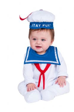 GHOSTBUSTERS -  STAY PUFT MARSHMALLOW MAN COSTUME (INFANT & TODDLER)