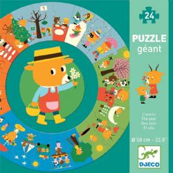 GIANT PUZZLE -  THE YEAR (24 PIECES) - 3+