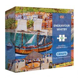 GIBSONS -  ENDEAVOUR WHITBY (500 PIECES)