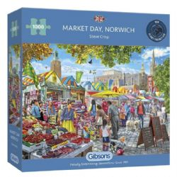 GIBSONS -  MARKET DAY, NORWICH  (1000 PIECES)