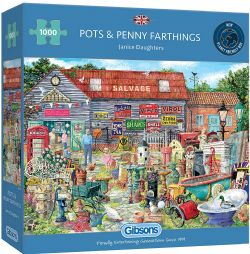 GIBSONS -  POTS & PENNY FARTHINGS (1000 PIECES)