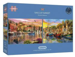 GIBSONS -  SAILS AT SUNSET (2X500 PIECES)