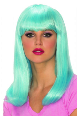 GLAMOUR -  BLUE GLOW BABE WIG (ADULT)