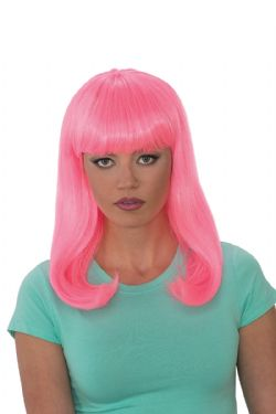 GLAMOUR -  PINK GLOW BABE WIG (ADULT)
