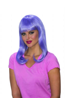 GLAMOUR -  PURPLE GLOW BABE WIG (ADULT)