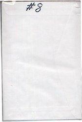 GLASSINE ENVELOPES #8 (4 1/2 X 6 5/8) PACKED 100