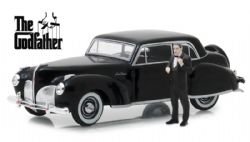 GODFATHER -  THE GODFATHER - 1941 LINCOLN CONTINENTAL WITH A DON CORLEONE FIGURE- 1:43