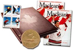 GOING FOR THE GOLD - STAMPS AND COIN SET -  2002 CANADIAN COINS