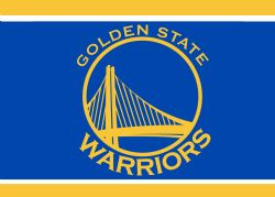 GOLDEN STATE WARRIORS -  3' X 5' HORIZONTAL FLAG