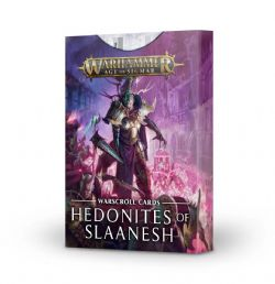 GRAND ALLIANCE CHAOS -  WARSCROLL CARDS (FRENCH) -  HEDONITES OF SLAANESH
