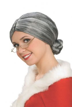 GRAND PARENTS -  OLD LADY WIG - GREY